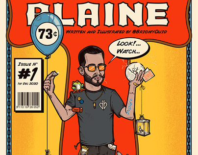 David Blaine Comic Cover