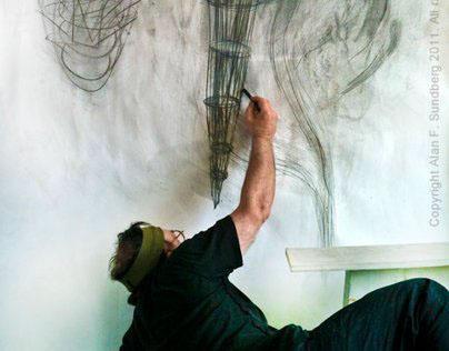 Drawing at the Wall - Alan Sundberg