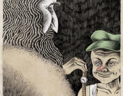 Ilustrações para conto do Kafka