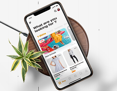 E-commerce shopping app ui kit - she
