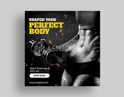 Fitness Social Media Banner | Fitness Instagram Post