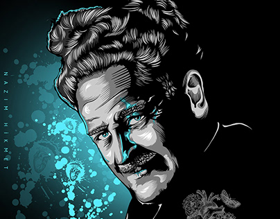 Digital art - Nazım Hikmet. Vector-