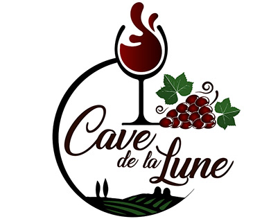 Cave de la Lune - Logo Design for Winery in France