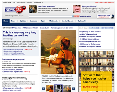 Redesign for News24
