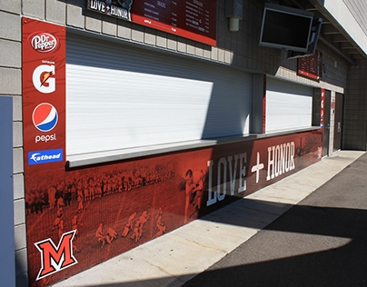 Miami University - Yager Stadium Concession Stand Wraps