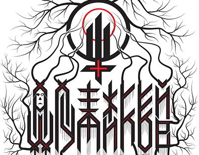Black metal design T-shirt