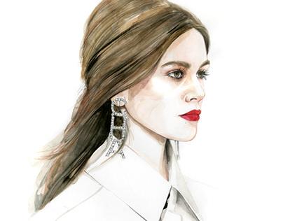 Fashion week spring 2019 illustrations