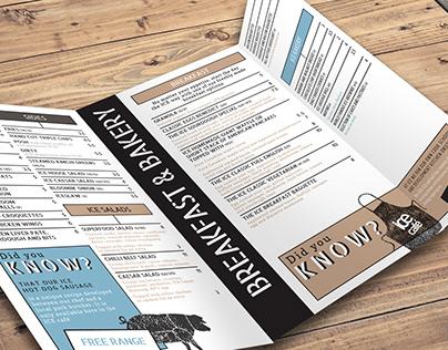 ICE Café menu