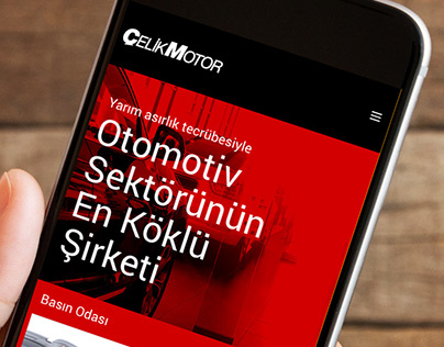 Çelik Motor // Corporate Web Site - Redesign