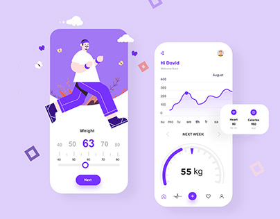 Fitness Mobile App Design