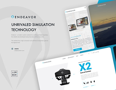 A modern custom website for a drilling simulator