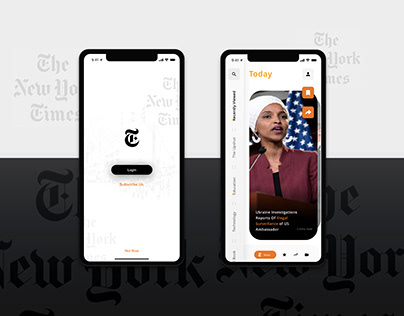 New York Times App - Redesign - Uplabs Challenge