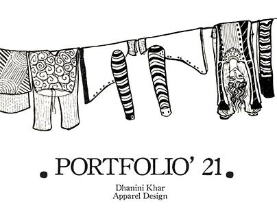 Portfolio: Apparel Design, 2021