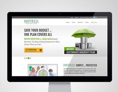 Matrix Protection - Website UI Design (2013)