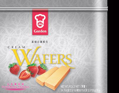 Garden Cream Wafers