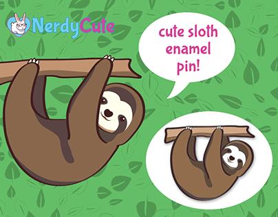 Cute Sloth Enamel Pin