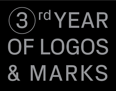 3rd year of logos & marks