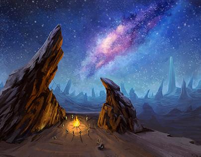 Alien world: Dancing in the fire.