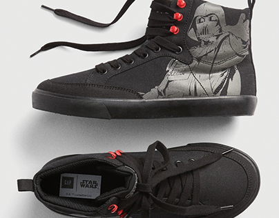 gap x star wars, darth force sneaker; shoe design