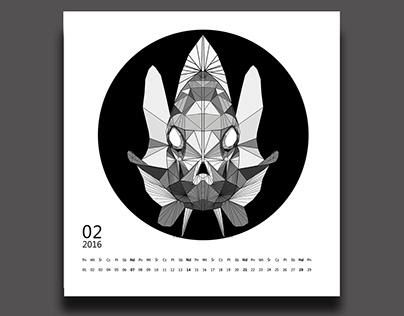 Kalendarz na rok 2016 z wykorzystaniem znaków zodiaku