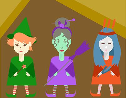 Three magical girls