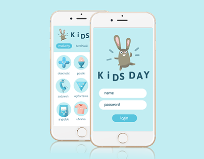App for parents and kindergartens. Kids Day