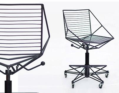 Adjustable metal bar chair Thorn-3