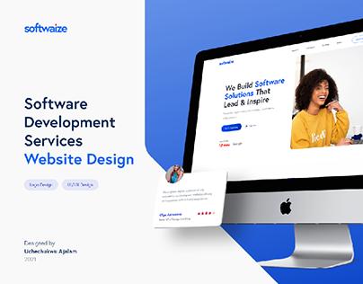 Softwaize Landing Page Design