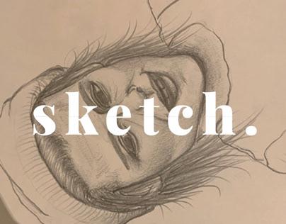 Kristen Stewart Portrait Sketch (Illustration)
