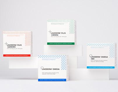 Packaging design - Ziołolek, Linoderm® series