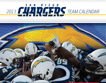 San Diego Chargers and SD Toyota 2013 Team Calendar