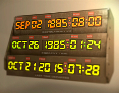 Back to the Future Time Travel Display