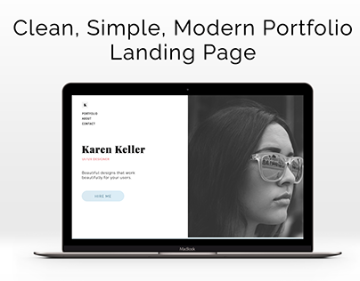 Simple, modern one page portfolio