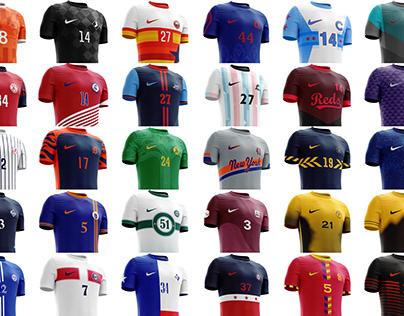 MLB Inspired Football Concept Uniforms