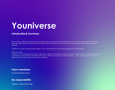 「Youniverse」VUI Game for kids
