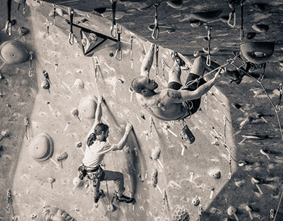 Vertical Rock Climbing Gym