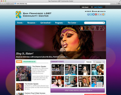 LGBT SF Center Web Redesign