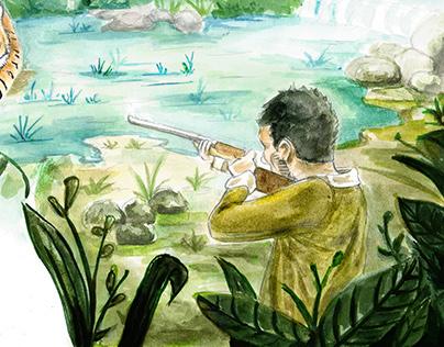 """Some illustrations for """"La tortuga Gigante"""""""