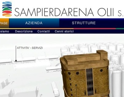 3D based website for Sampierdarena Olii s.r.l.