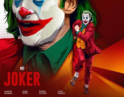 joker movie illustrated poster