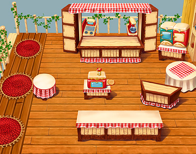 Environment for cooking game
