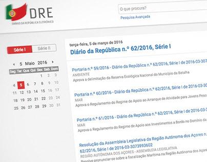DRE ·Diário da República Eletrónico