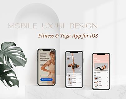 Mobile Fitness & Yoga App UX/UI design