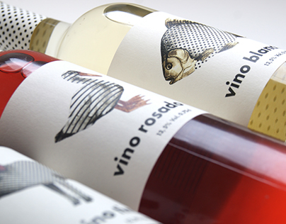 illustrated wine labels