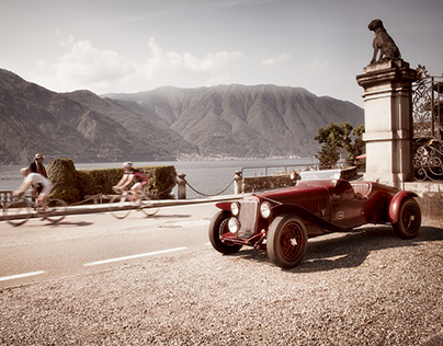 OM 665 SS MM at Lago di Como