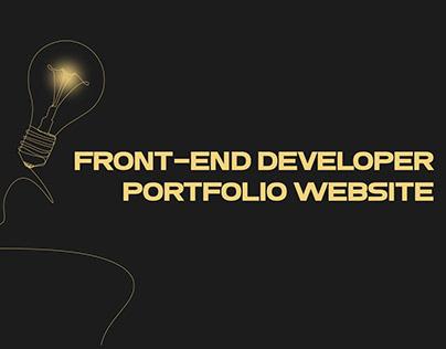 Creative portfolio website for a front-end developer