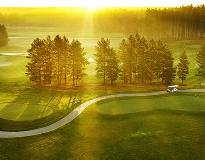 фотосъемка для гольф-курорта Pine Creek Golf
