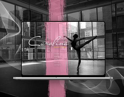 Landing page for Dance ballet studio