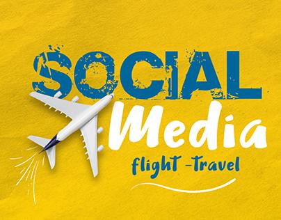 social media (travel- flight)
