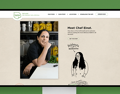 Taïm Falafel, Website